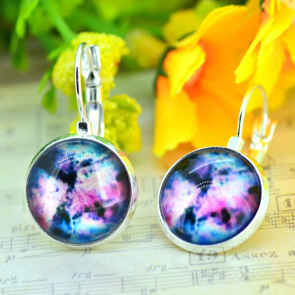 Galaxy Earring Space Earrings Unique Girl Gift - Ashlays - 3