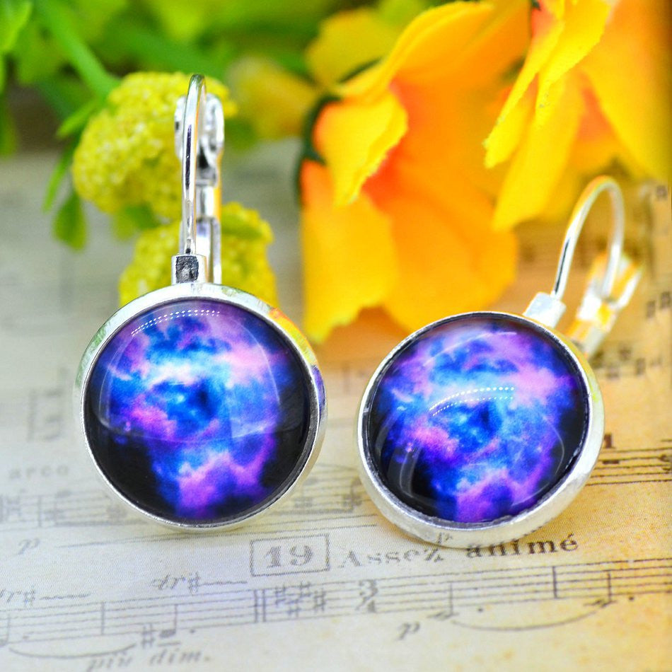 Galaxy Earring Space Earrings Unique Girl Gift - Ashlays - 7
