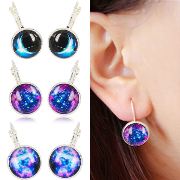 Galaxy Earring Space Earrings Unique Girl Gift - Ashlays - 1