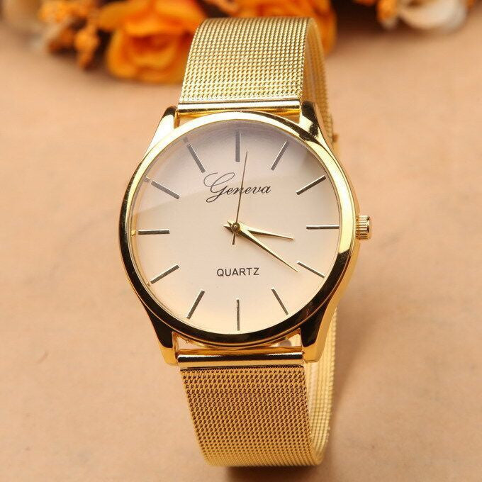 Gold Watch Stainless Steel Dress Watches - Ashlays