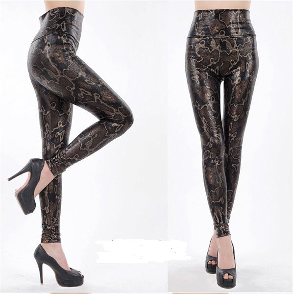 Shiny Printed Slim Fit Base Pants - Ashlays - 6