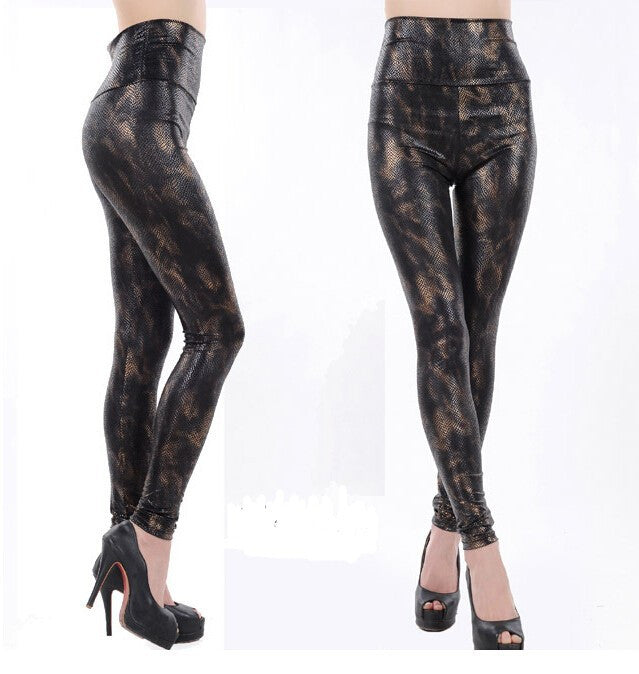 Shiny Printed Slim Fit Base Pants - Ashlays - 8