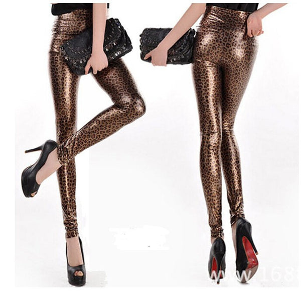 Shiny Printed Slim Fit Base Pants - Ashlays - 3