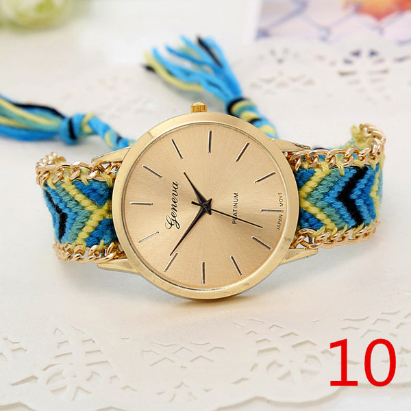 Handmade Braided Friendship Bracelet Watch - Ashlays - 4