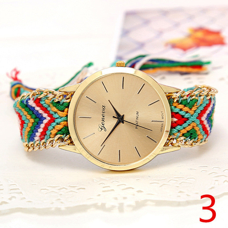 Handmade Braided Friendship Bracelet Watch - Ashlays - 10