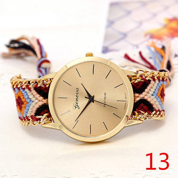 Handmade Braided Friendship Bracelet Watch - Ashlays - 11