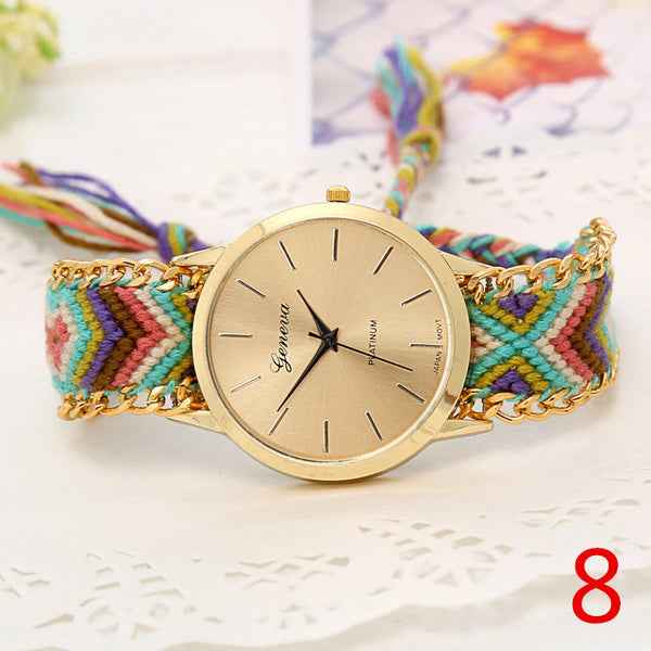 Handmade Braided Friendship Bracelet Watch - Ashlays - 12