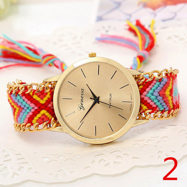 Handmade Braided Friendship Bracelet Watch - Ashlays - 7