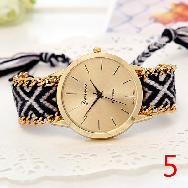 Handmade Braided Friendship Bracelet Watch - Ashlays - 2