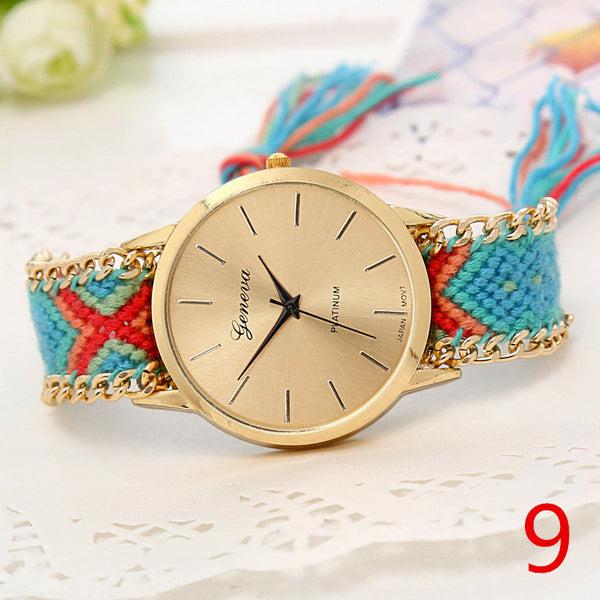 Handmade Braided Friendship Bracelet Watch - Ashlays - 14
