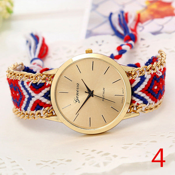 Handmade Braided Friendship Bracelet Watch - Ashlays - 13