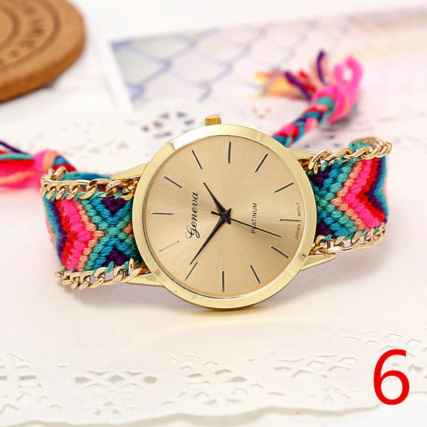 Handmade Braided Friendship Bracelet Watch - Ashlays - 6