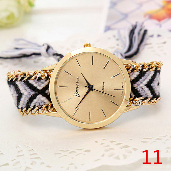 Handmade Braided Friendship Bracelet Watch - Ashlays - 5