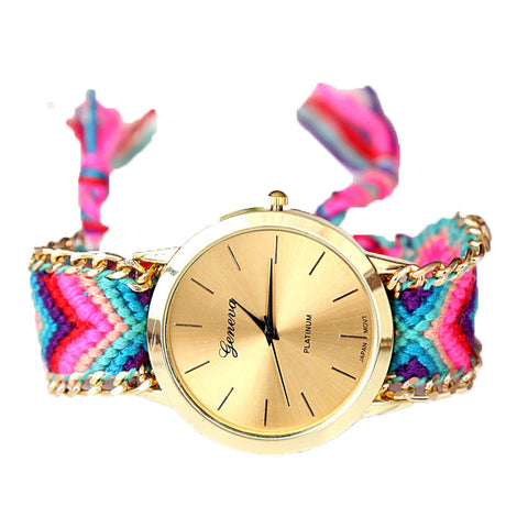Handmade Braided Friendship Bracelet Watch - Ashlays - 1