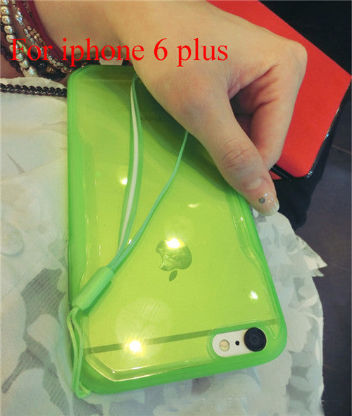 "Transparent Cell Phone Case for iphone 6 4.7"" 6 5.5"" Soft TPU Drop Resistance Full Surround Design - Ashlays - 7"