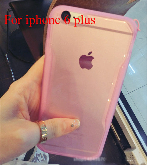 "Transparent Cell Phone Case for iphone 6 4.7"" 6 5.5"" Soft TPU Drop Resistance Full Surround Design - Ashlays - 12"