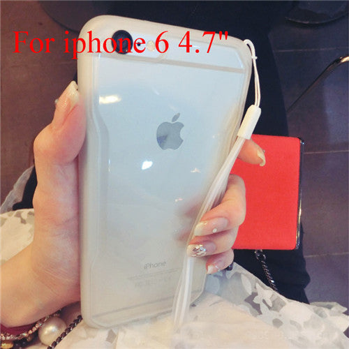 "Transparent Cell Phone Case for iphone 6 4.7"" 6 5.5"" Soft TPU Drop Resistance Full Surround Design - Ashlays - 13"