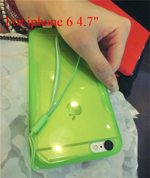"Transparent Cell Phone Case for iphone 6 4.7"" 6 5.5"" Soft TPU Drop Resistance Full Surround Design - Ashlays - 3"