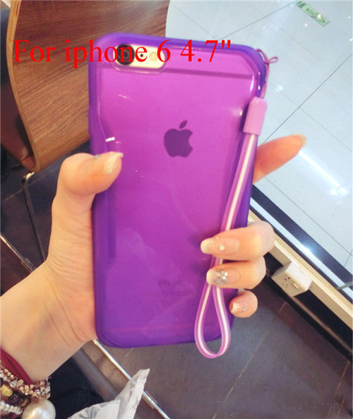 "Transparent Cell Phone Case for iphone 6 4.7"" 6 5.5"" Soft TPU Drop Resistance Full Surround Design - Ashlays - 16"