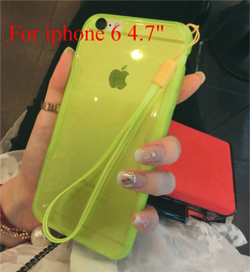 "Transparent Cell Phone Case for iphone 6 4.7"" 6 5.5"" Soft TPU Drop Resistance Full Surround Design - Ashlays - 4"