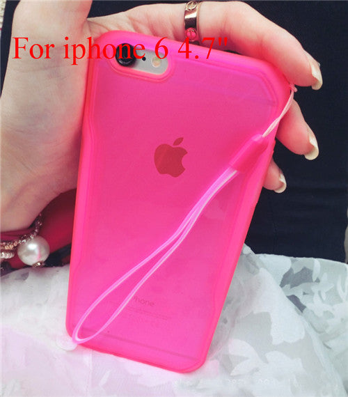"Transparent Cell Phone Case for iphone 6 4.7"" 6 5.5"" Soft TPU Drop Resistance Full Surround Design - Ashlays - 6"