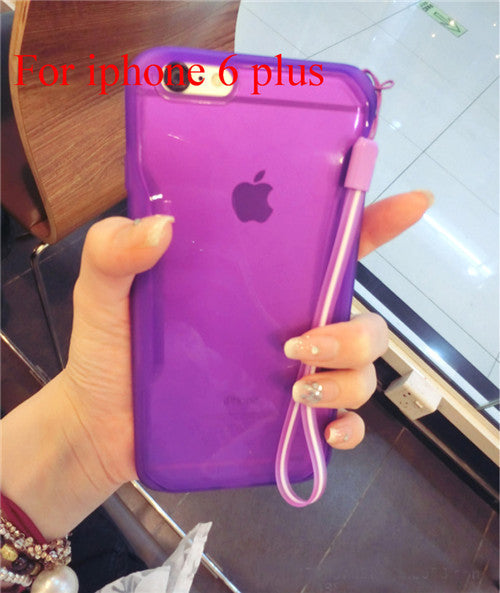 "Transparent Cell Phone Case for iphone 6 4.7"" 6 5.5"" Soft TPU Drop Resistance Full Surround Design - Ashlays - 1"