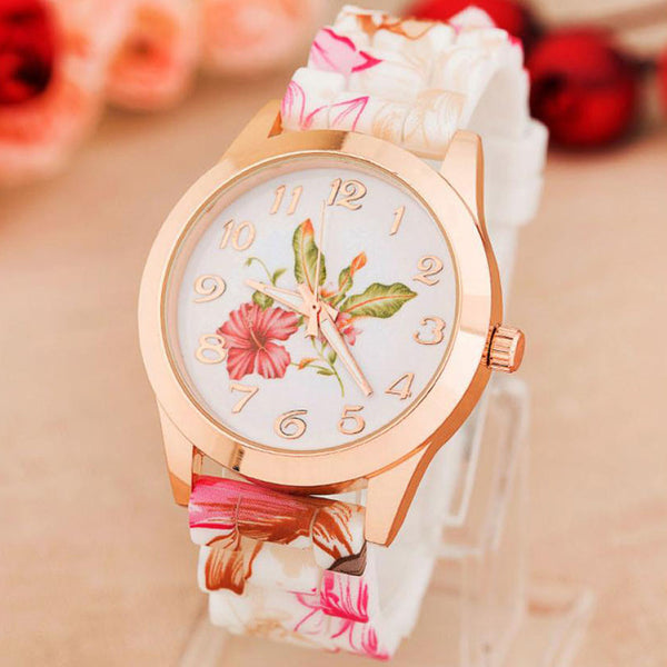 Quartz Floral Wrist Watch - Ashlays - 1
