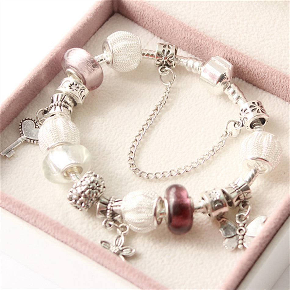 925 Silver String Beads Pandora Bracelet/bangle - Ashlays