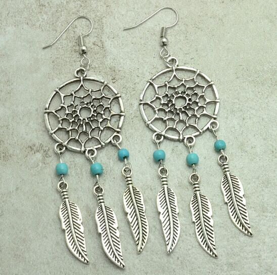 Vintage Dream Catcher Drop Dangle Earring - Ashlays - 4
