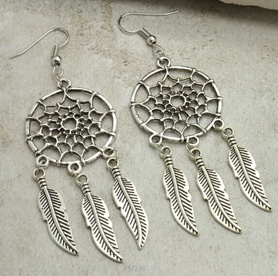 Vintage Dream Catcher Drop Dangle Earring - Ashlays - 5