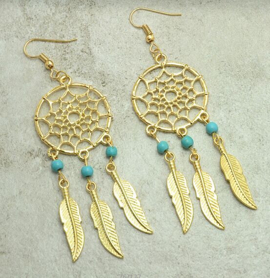 Vintage Dream Catcher Drop Dangle Earring - Ashlays - 2