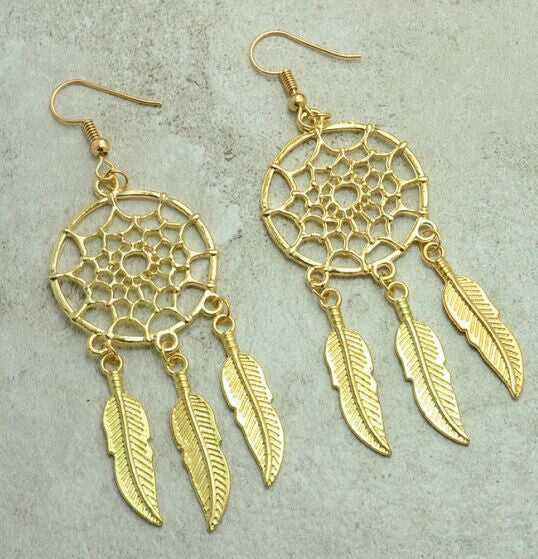Vintage Dream Catcher Drop Dangle Earring - Ashlays - 3