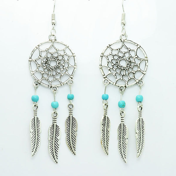 Vintage Dream Catcher Drop Dangle Earring - Ashlays - 1