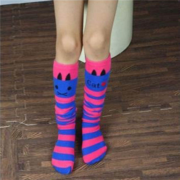 Toddlers Girls Knee High Socks Striped Stockings for Girls - Ashlays - 2