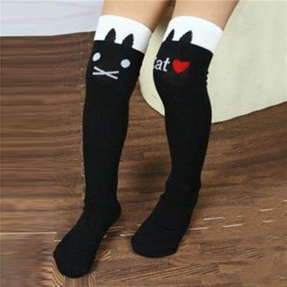Toddlers Girls Knee High Socks Striped Stockings for Girls - Ashlays - 3