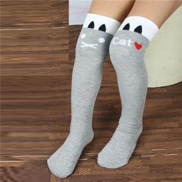 Toddlers Girls Knee High Socks Striped Stockings for Girls - Ashlays - 1