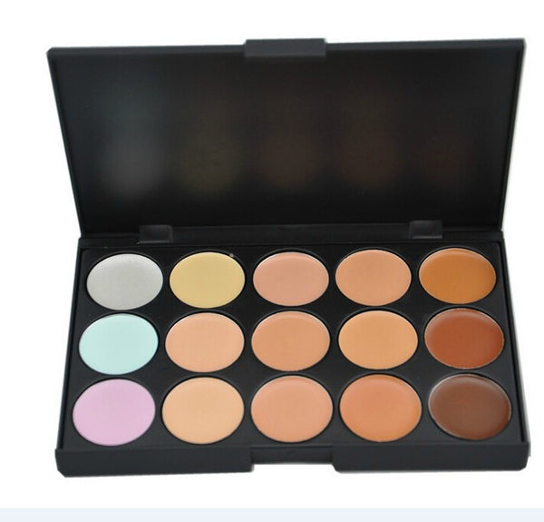Professional 15 COLOR Concealer Facial Care Camouflage Makeup Palette - Ashlays - 3