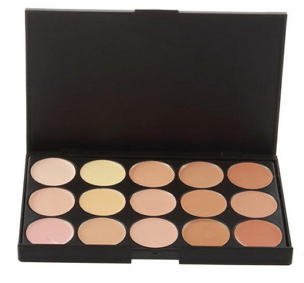 Professional 15 COLOR Concealer Facial Care Camouflage Makeup Palette - Ashlays - 2