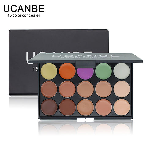 Professional 15 COLOR Concealer Facial Care Camouflage Makeup Palette - Ashlays - 1