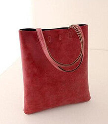 Tote Shoulder Bag PU Matte Leather Crossbody Bag - Ashlays - 6