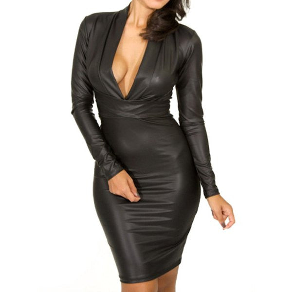 Faux Leather Dress - Ashlays - 1