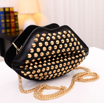 Spike Black Shoulder Bag - Ashlays - 1