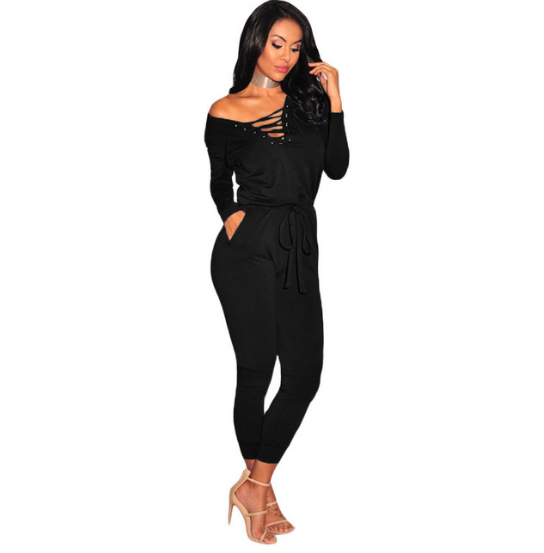 Sexy Fashion Black Jumpsuit - Ashlays - 1
