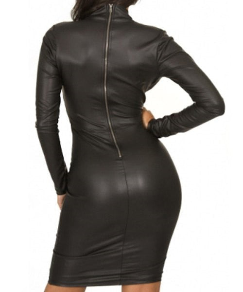 Faux Leather Dress - Ashlays - 2
