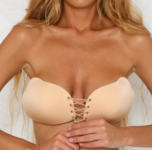 Lace up Spandex Lift Bra