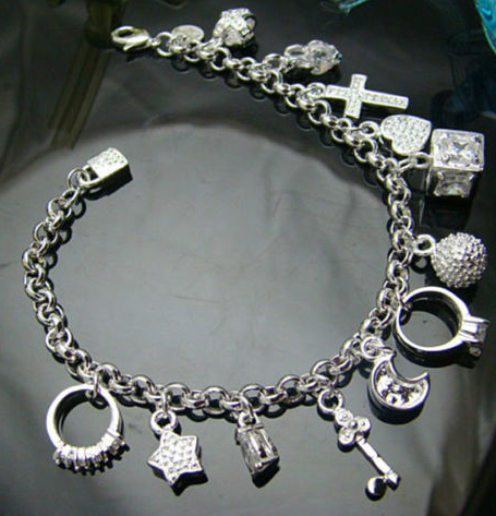 925 Sterling Silver Plated Charm Bracelet - Ashlays