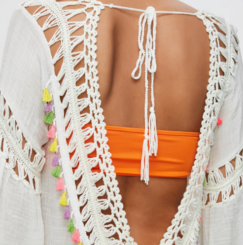 See-Through Crochet Tunic Beach Cover Up