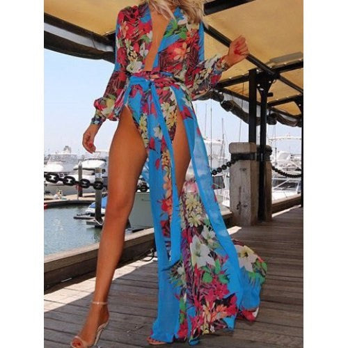 Floral Print Swimsuit CoverUp - Ashlays - 3
