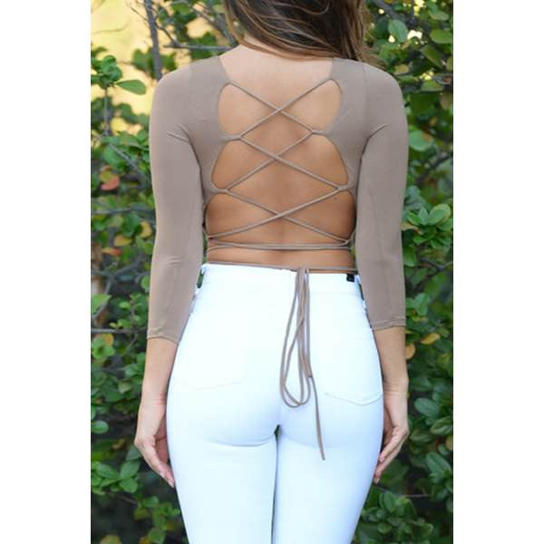 Criss-Cross Crop Top For Women - Ashlays