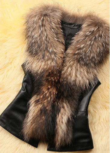 Faux Fur and Bowknot Embellished Vest